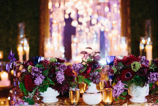 purple red florals