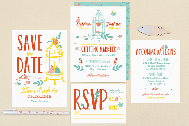 love birds invitations