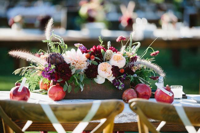 pomegranate centerpieces