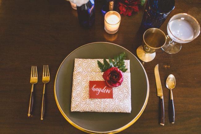 flower plate setting