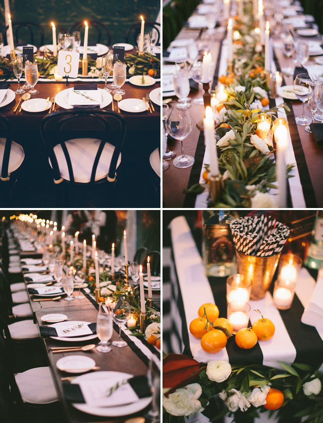 orange inspired tablescape