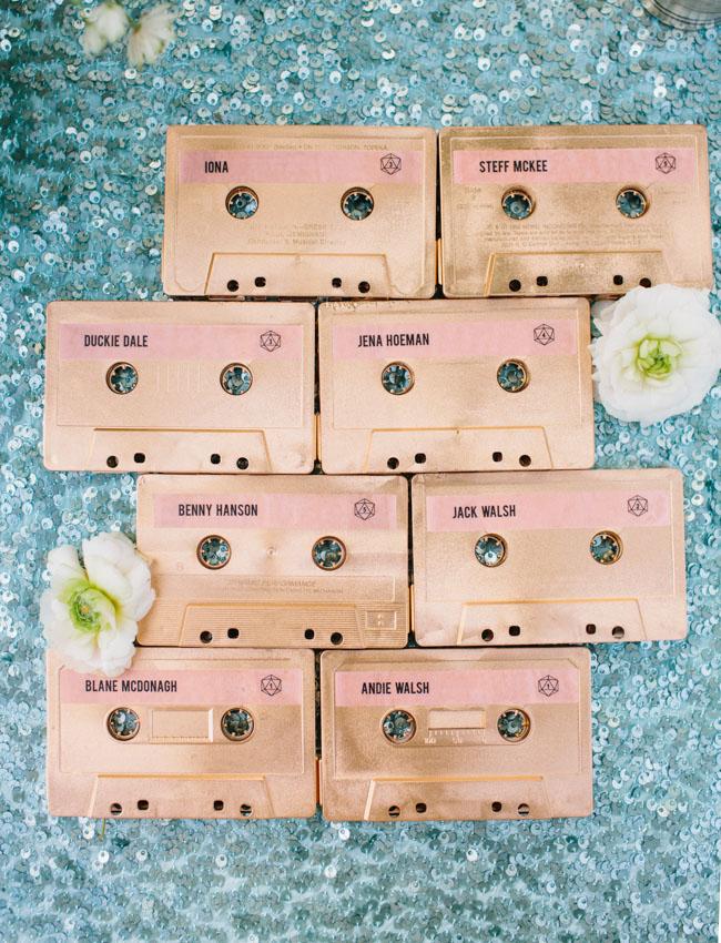 cassette escort cards