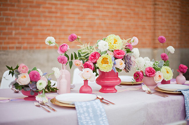 watercolor tablescape