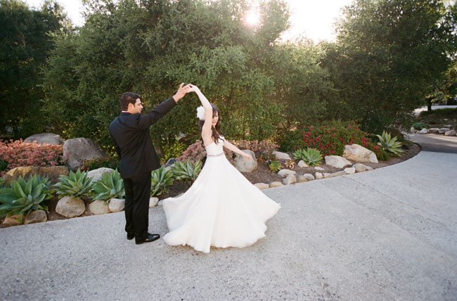 sparkly Santa Barbara wedding