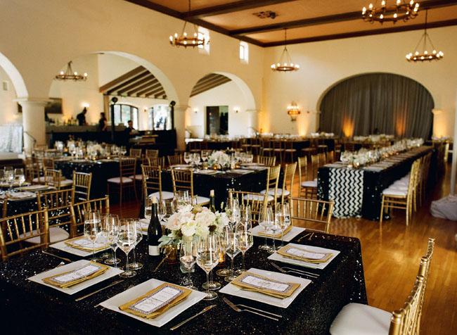 dark reception tablecloths