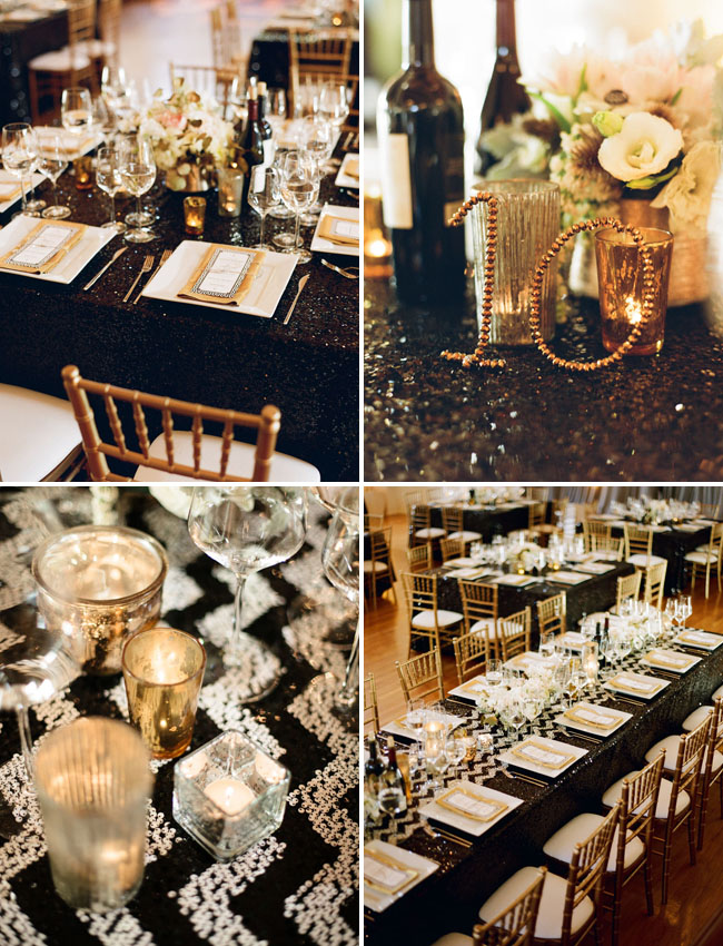 chevron sequin tablecloths