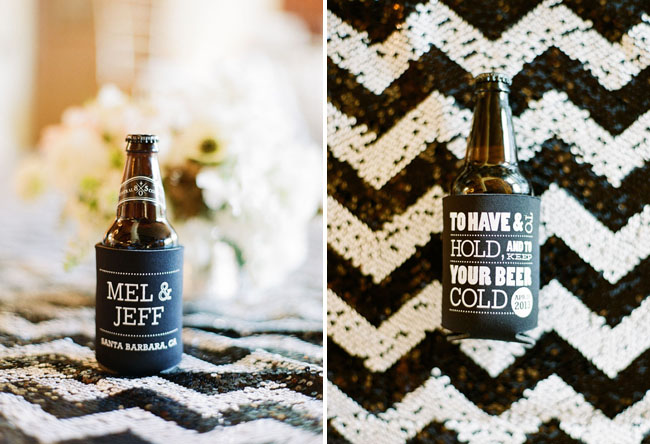 beer coozie favor