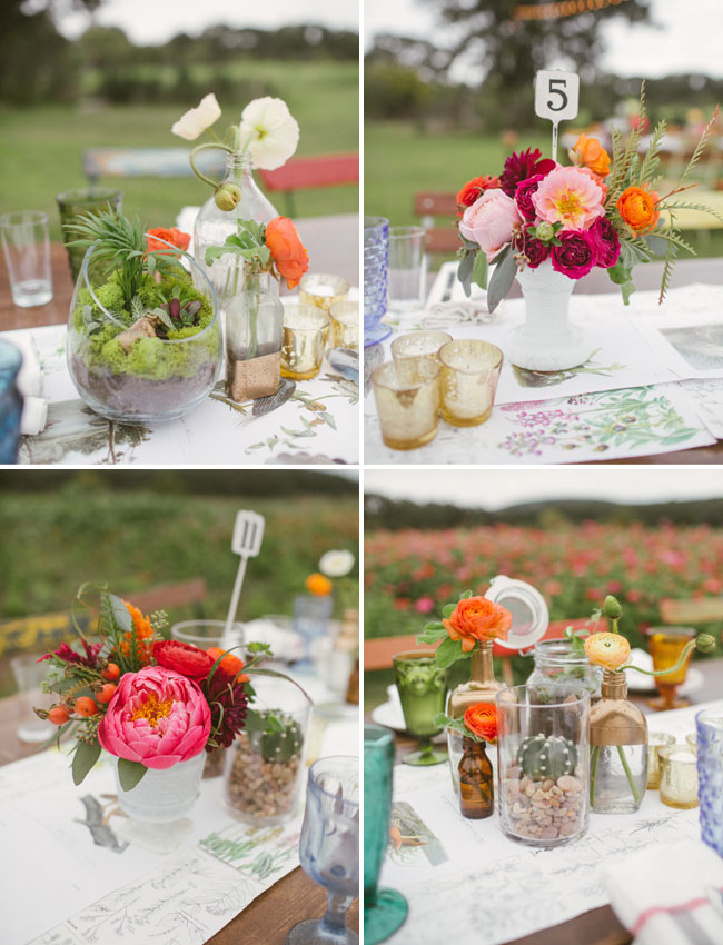 colorful table centerpieces