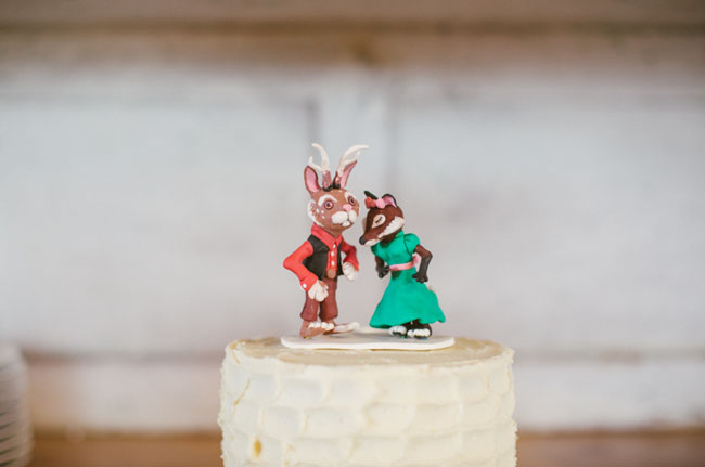 fox wedding toppers