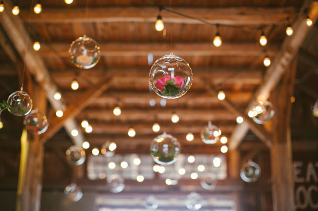 glass orbs with flowers