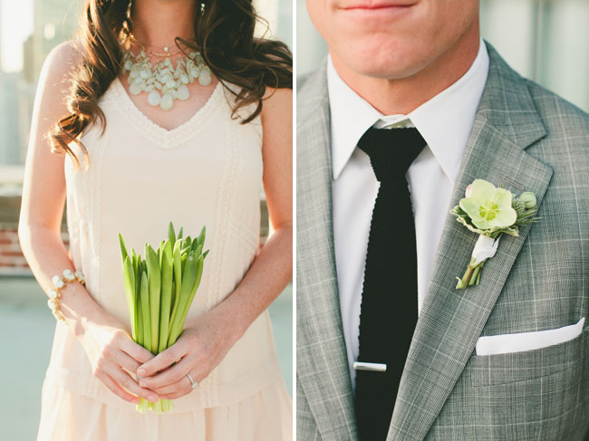 green root bouquet
