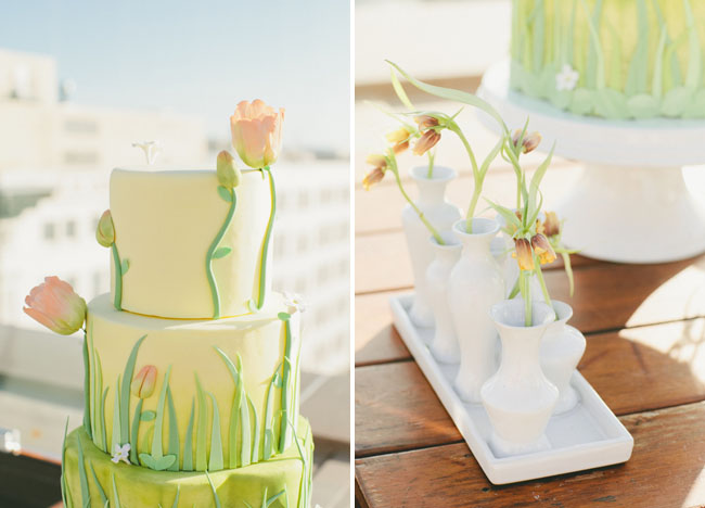 meadow inspired cake