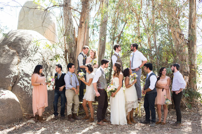 western wedding party