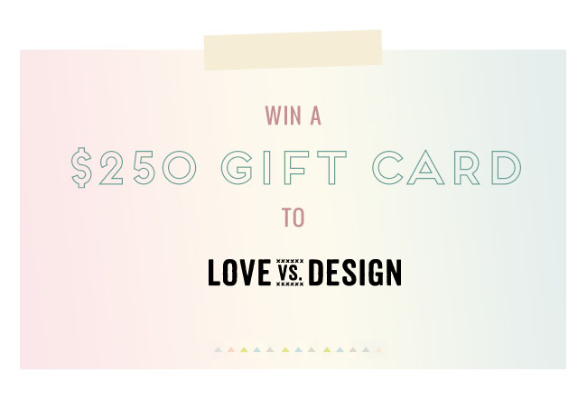 love vs design giveaway