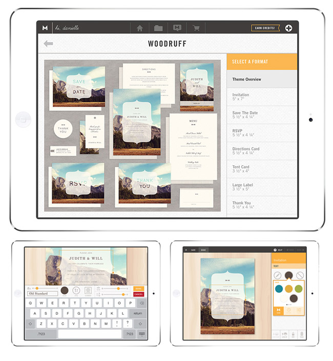 makr ipad app for your wedding invitations