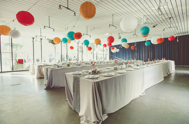 colorful ball reception