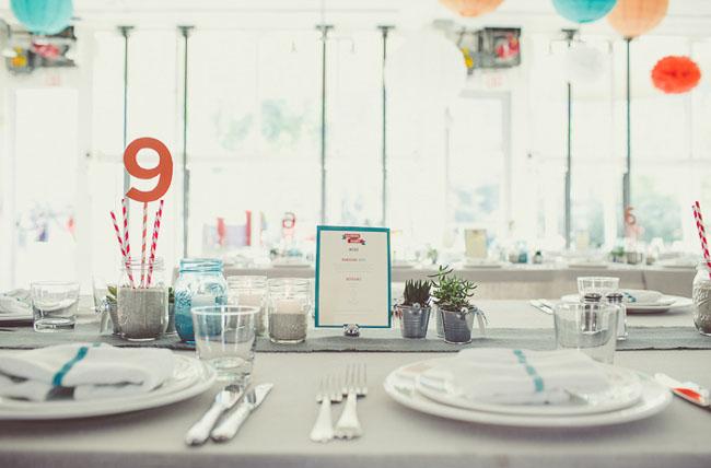 teal table menus