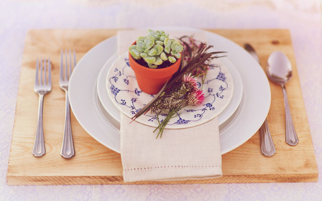 succulent plate setting