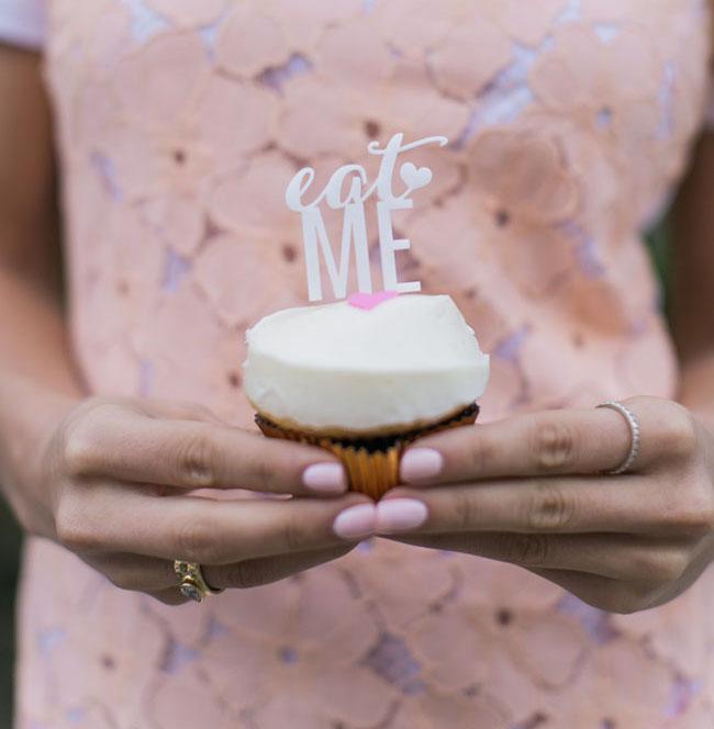 eat me cupcake topper