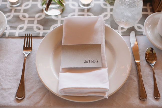 simple plate setting