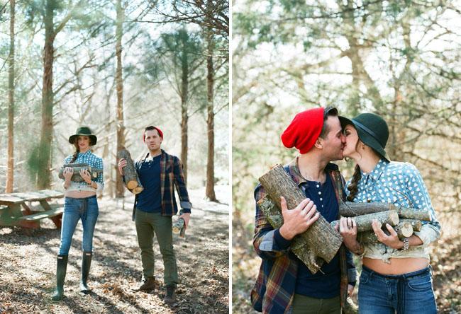 woodsy engagement
