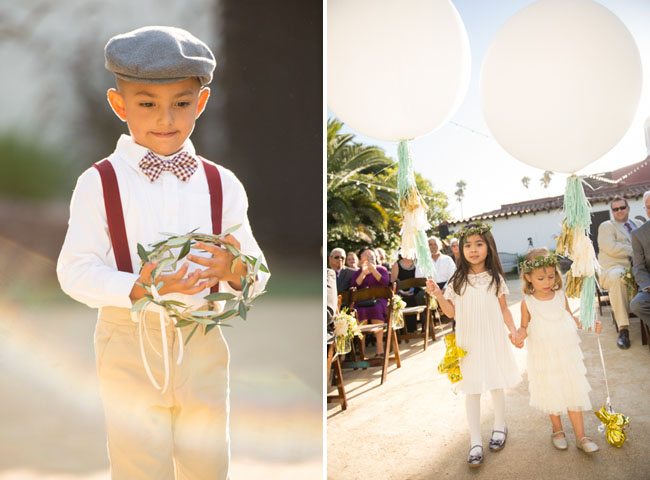 ring bearer and flower girls