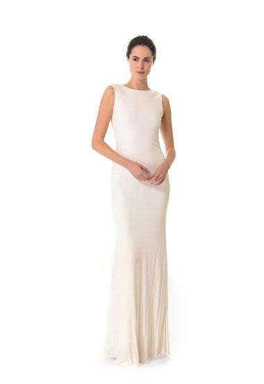 Cowl back gown green wedding shoes weddings fashion for Cowl back wedding dress