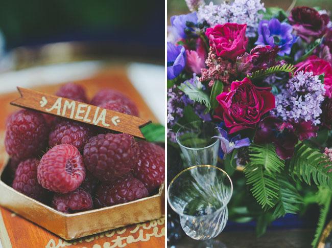 raspberry plate setting