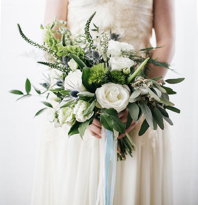 blue ribbon bouquet z