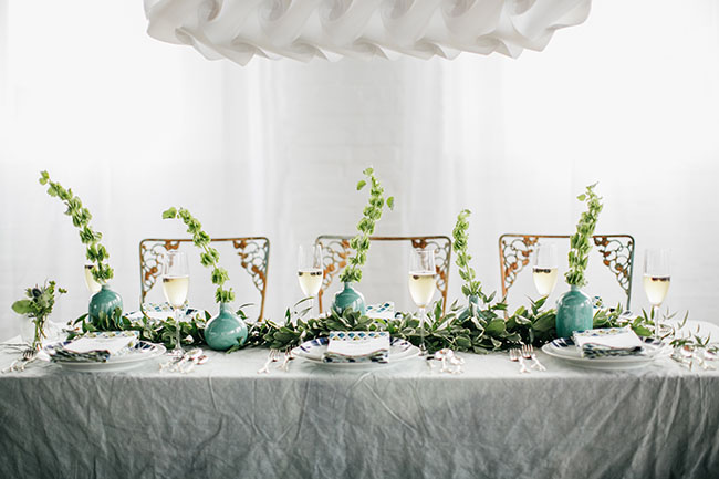 green floral stems