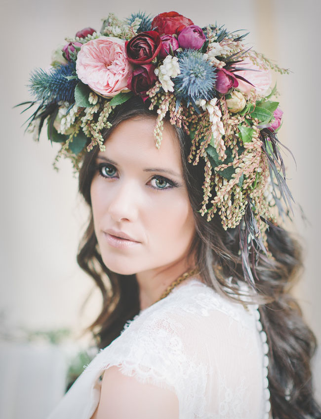 giant flower hair crown