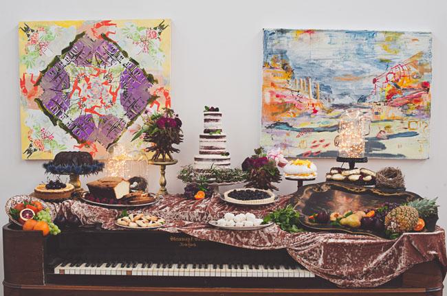 dessert bar on piano