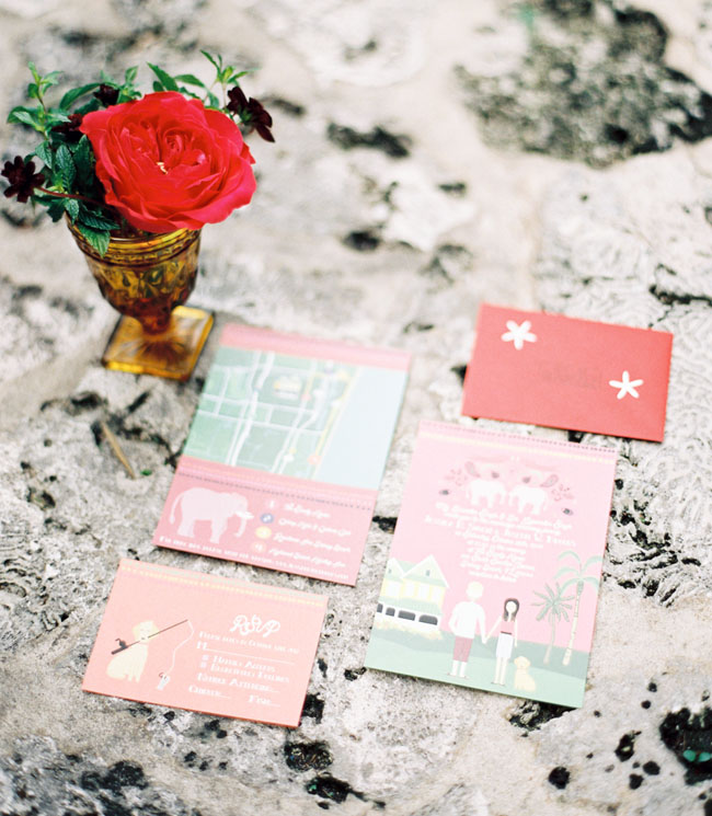 colorful pastel invitation