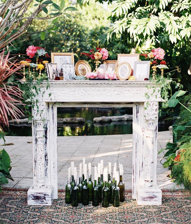 vintage mantle altar