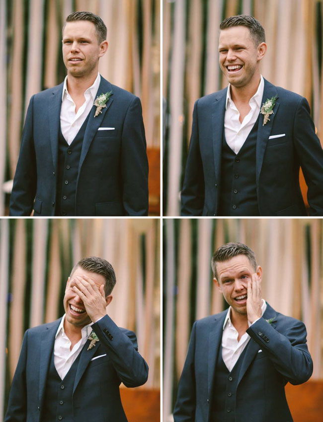 groom ceremony reaction