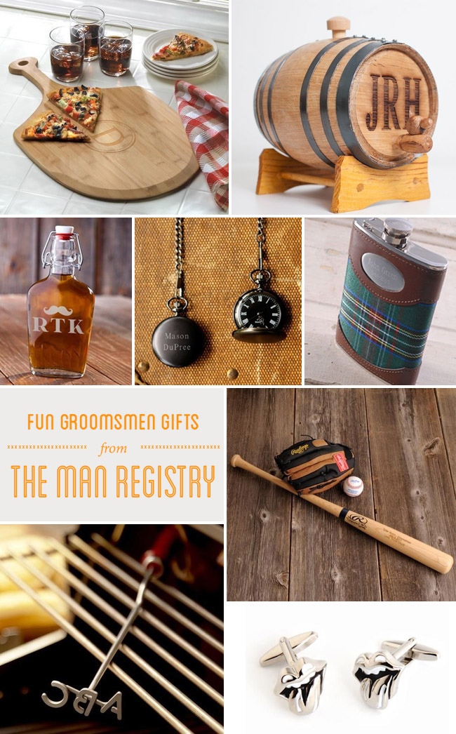 Fun groomsmen gifts from the man registry green wedding for Fun wedding registry ideas