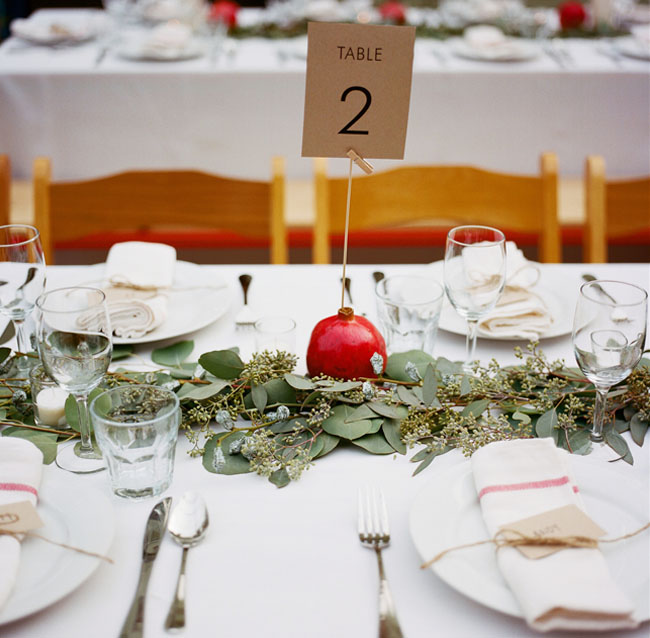 pomegranite table decor