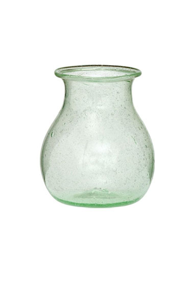 Light Green Recycled Glass Vase Green Wedding Shoes