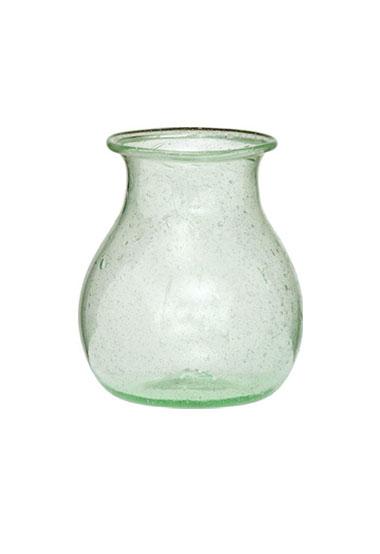light green recycled glass vase