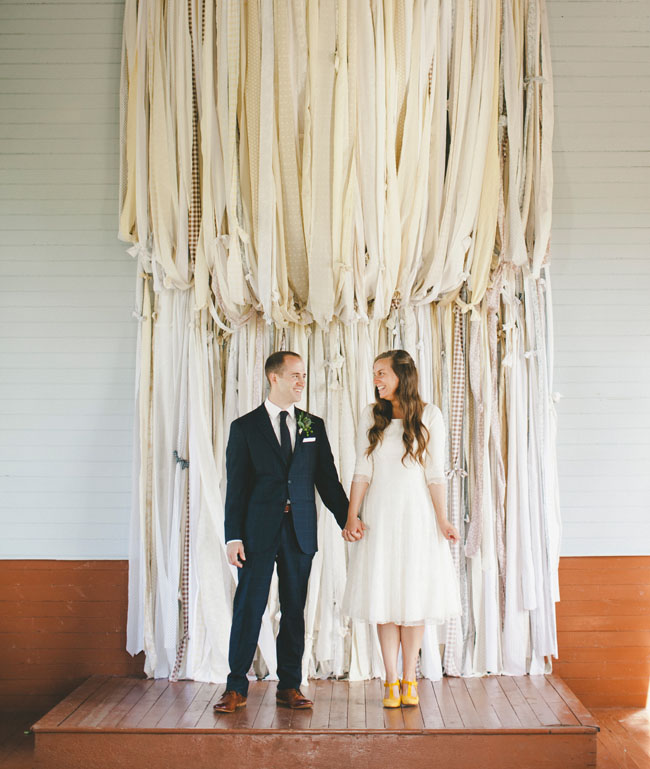 Canadian Wedding At A Tiny White Church In A Field
