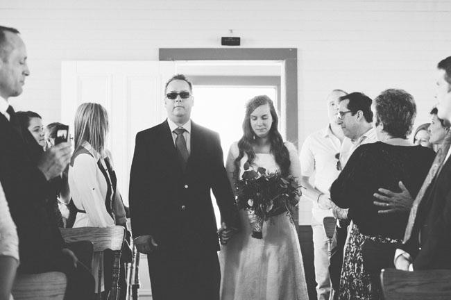 tiny white church wedding