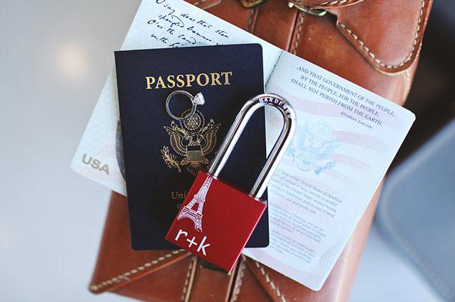 passport and lock