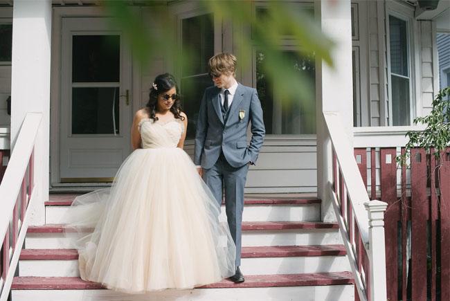 60s pastel wedding