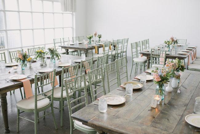 pastel reception
