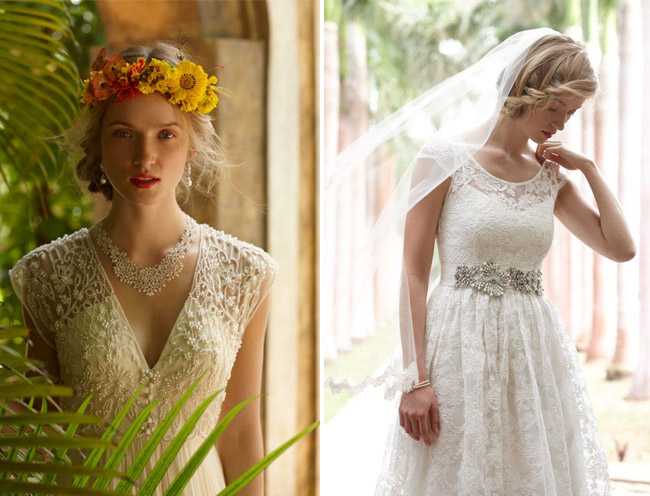 Beige Lace Bhldn Wedding Dress Or Bridesmaid Gown: New Pretties From BHLDN
