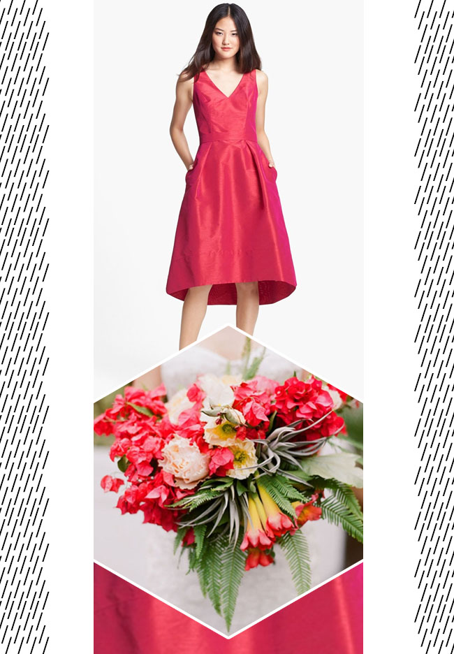 Match your dress with your bouquet