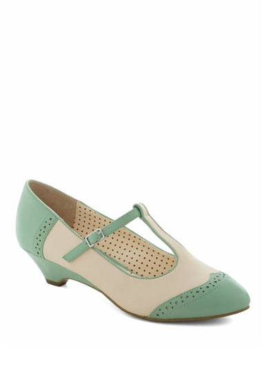 Care To Dance Wedge In Mint Green Wedding Shoes