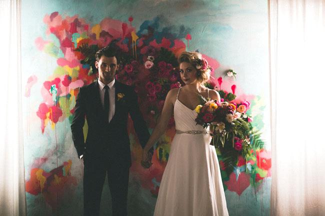 Indoor Ceremony Inspirations: Artful Indoor Wedding Inspiration