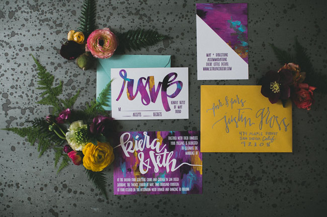 art inspired invitation