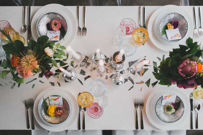 art inspired tablescape